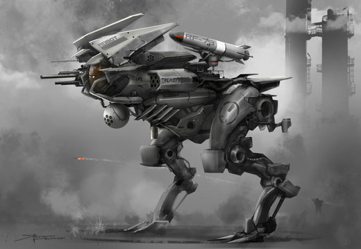 Raptor mech speed painting por TheRafa