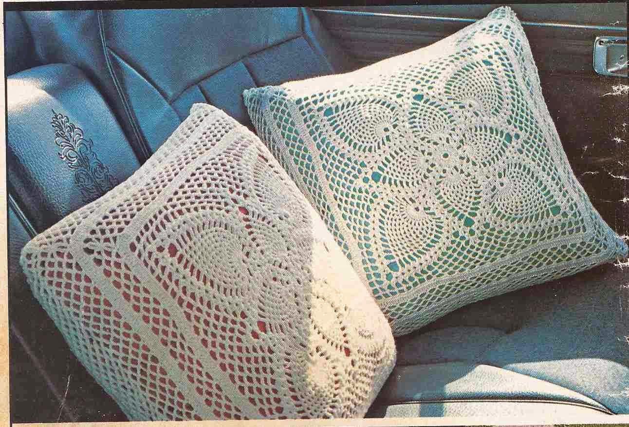 "Cojines ""Dúo Escarcha"" a Crochet o Ganchillo"