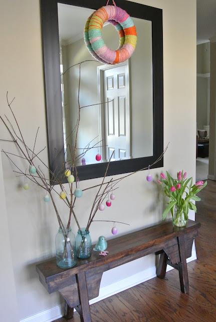 spring entryway decoration