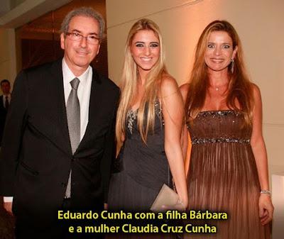 Eduardo Cunha diz que não conhece sua mulher e filhas