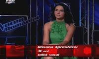 Roxana Apreutesei la Vocea Romaniei din 30 octombrie 2012