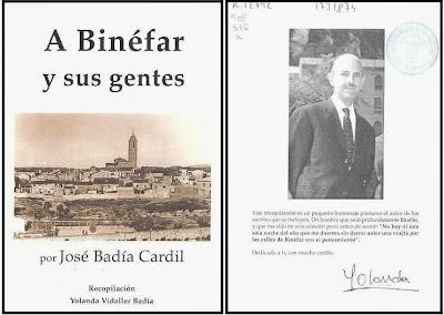 """""""A Binéfar y sus Gentes"""" de José Badía Cardil"""