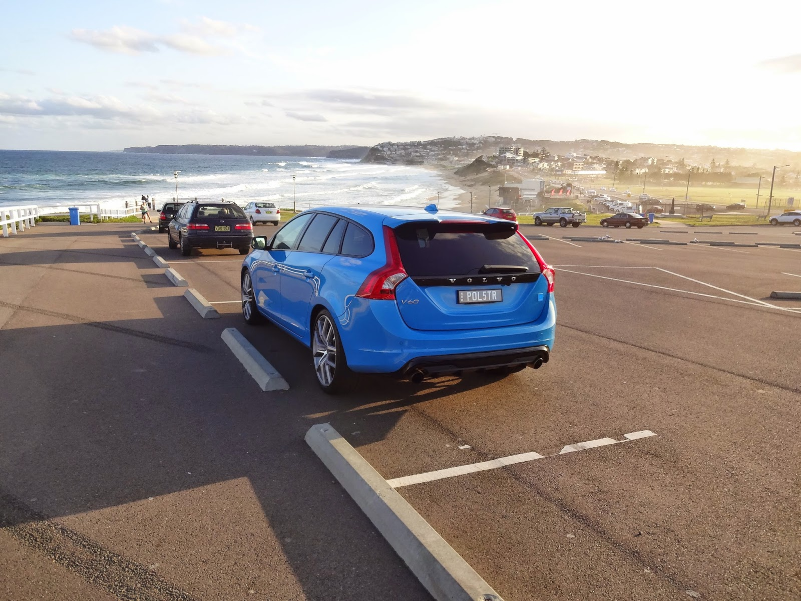 Volvo V60 Polestar enjoying the sunset in Newcastle