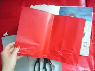 geschenkpapier rot