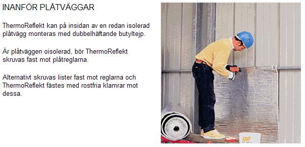 Isolera plåt, plåtfasader med ThermoReflex / Reflectix
