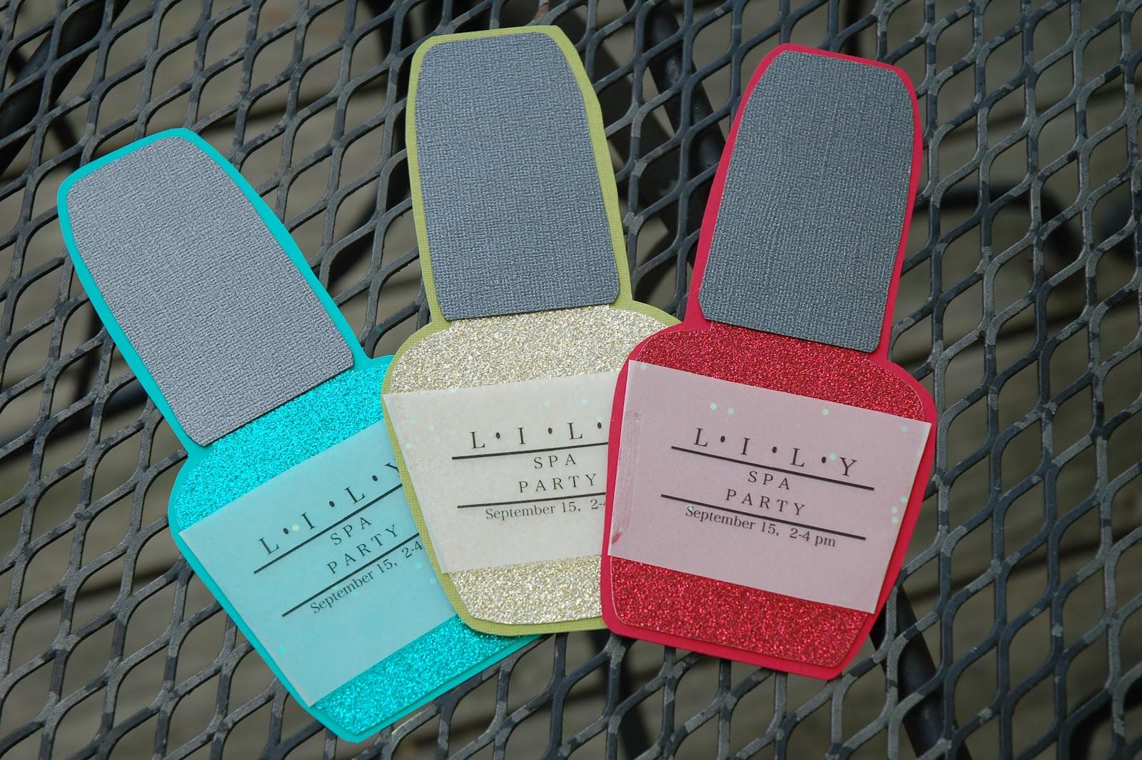 shorties funny farm: ::nail polish birthday invites::