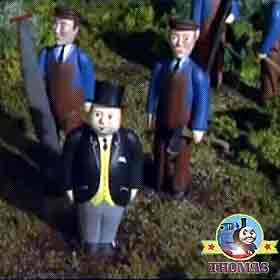 Sir Topham Hatt train Thomas and his friends Henry the tank engine the Scottish castle flagpole flag