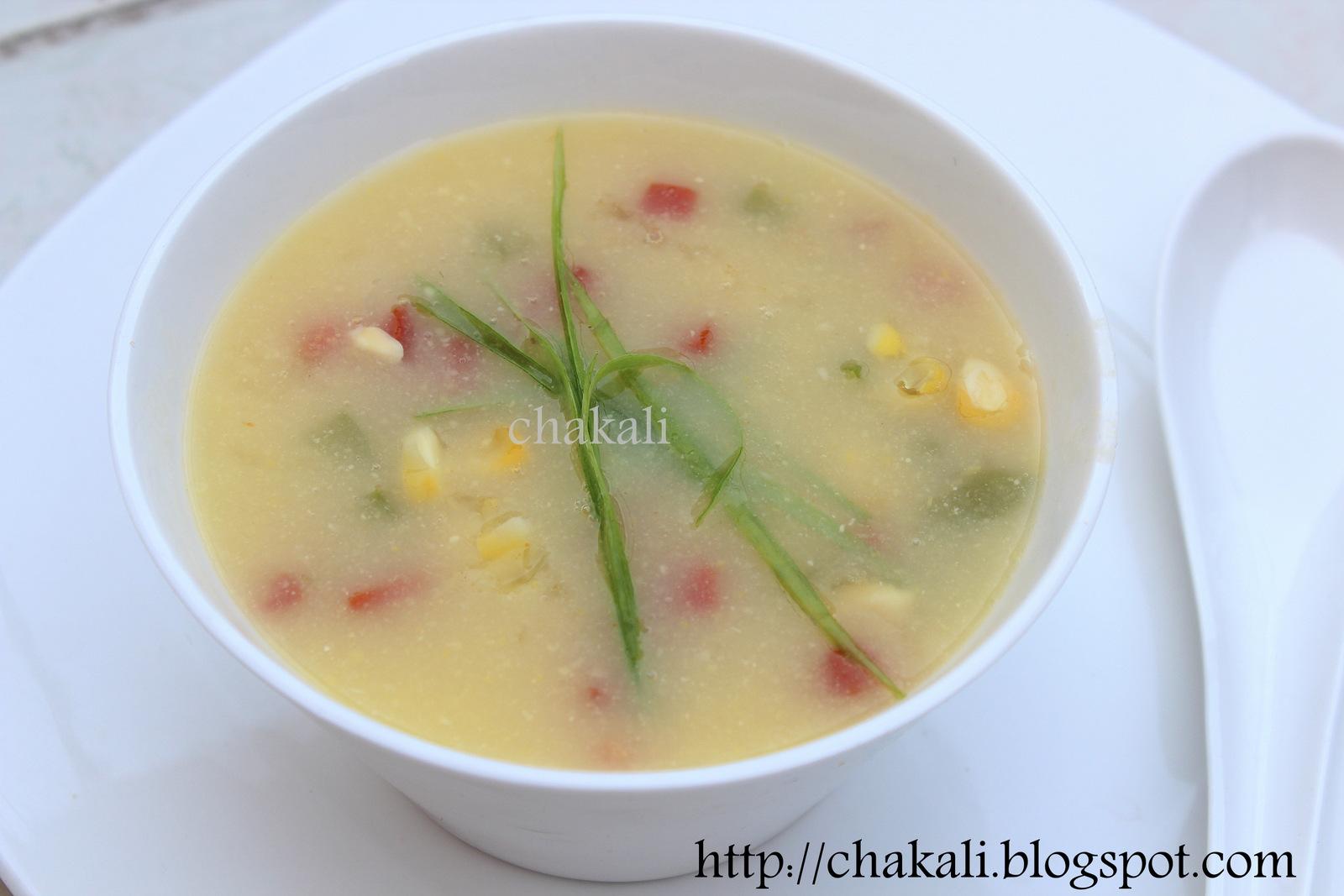 Sweet Corn Soup   चकली