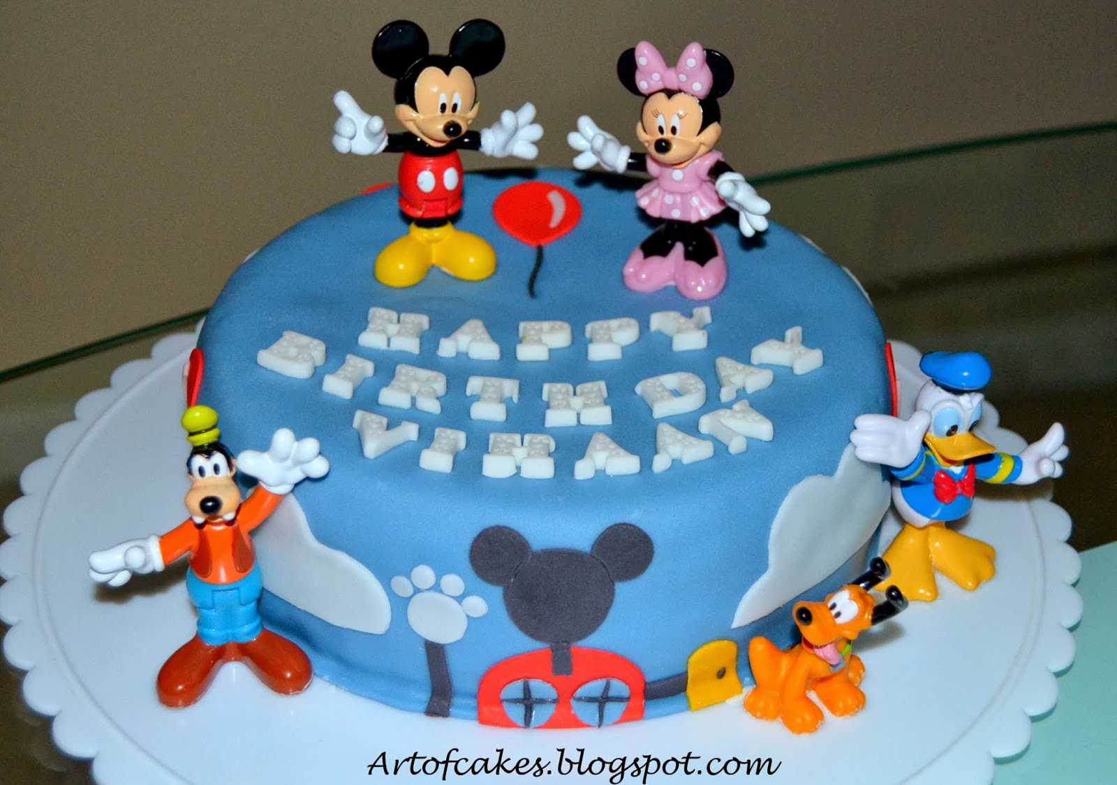 This Mickey Mouse Clubhouse Birthday Cake Is Designed For A 1 Year Old Boy Who Loves