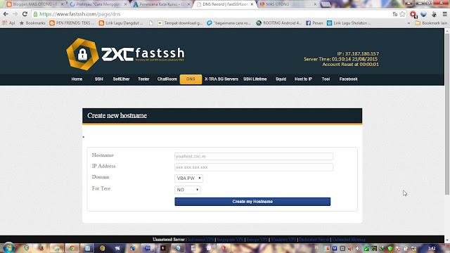 trik internet gratis ssh tanpa inject