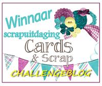 challenge #27 bij Cards&Scrap gewonnen!!
