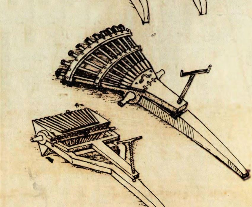Leonardo Da Vinci's Ingenious Inventions - Machine Gun