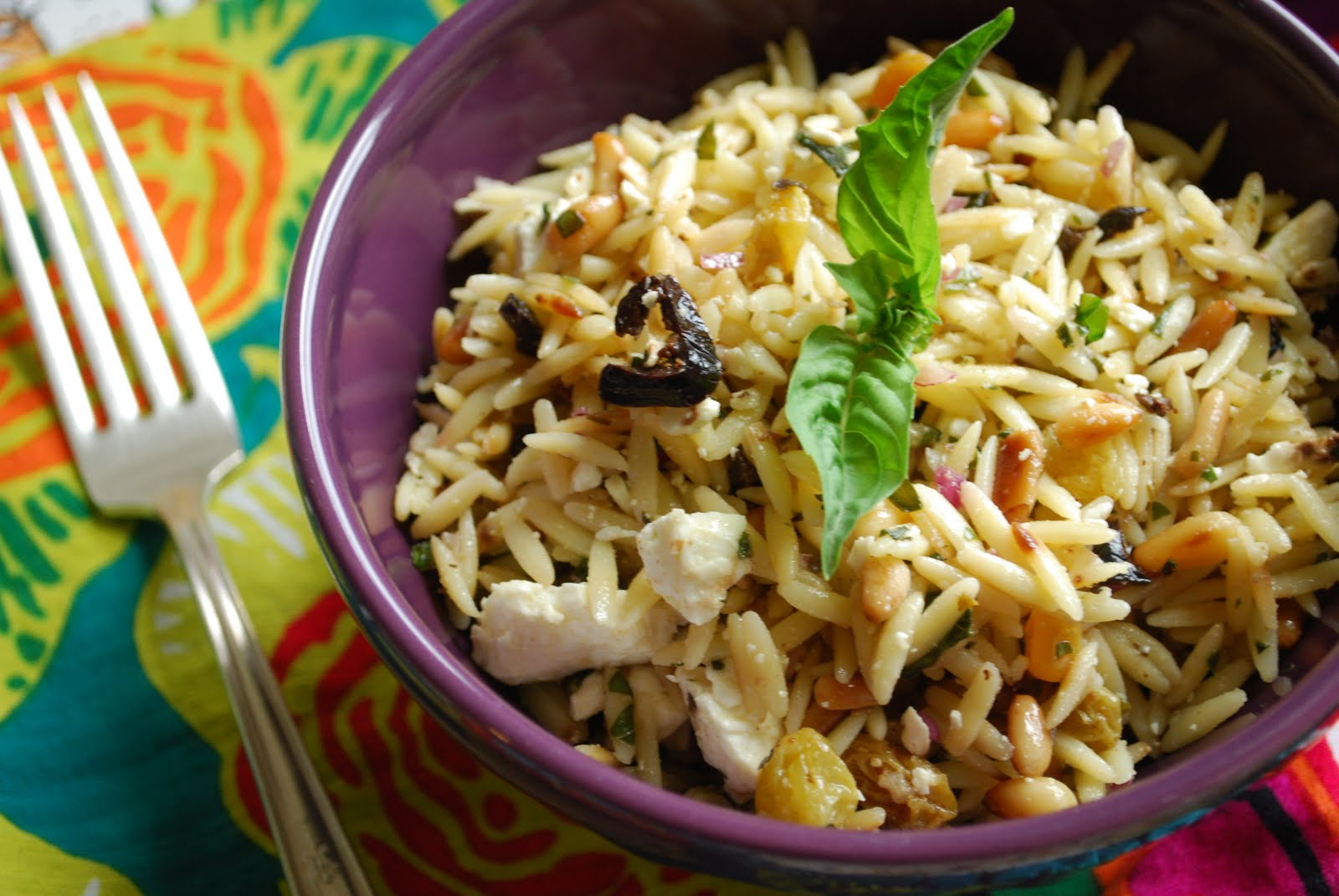 ... , vacation day...and orzo salad with lemon, feta and pine nuts