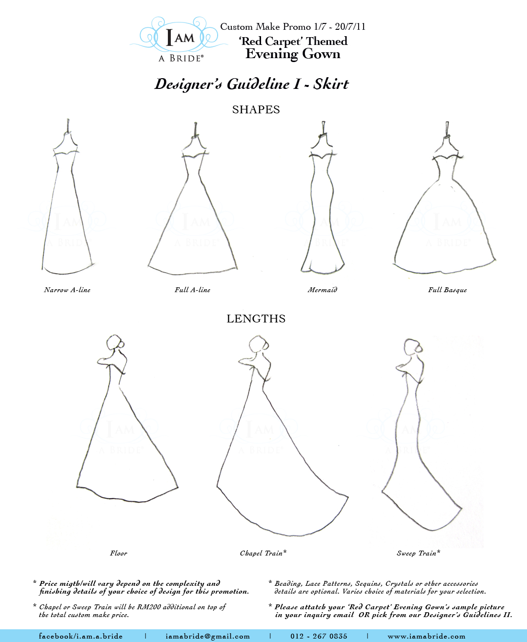 Promotion: Custom Make Evening Gown | I am a Bride Gown Boutiques