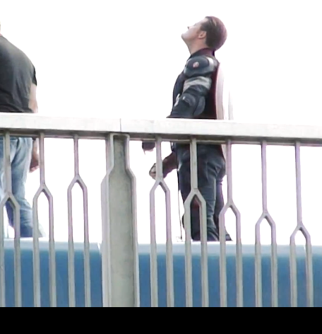 """Escena del Capitán America en  """"Los Vengadores: La Era de Ultron"""""""