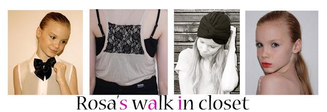 Rosa's walk in closet