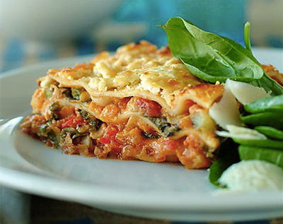 White House Recipes: Turkey Lasagna with Spinach; Winter Green Salad ...