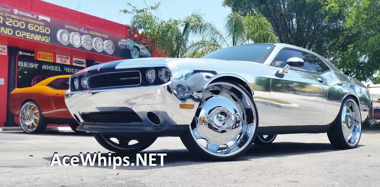 Ace 1 Chrome Dodge Challenger On 28 Quot Kurvs