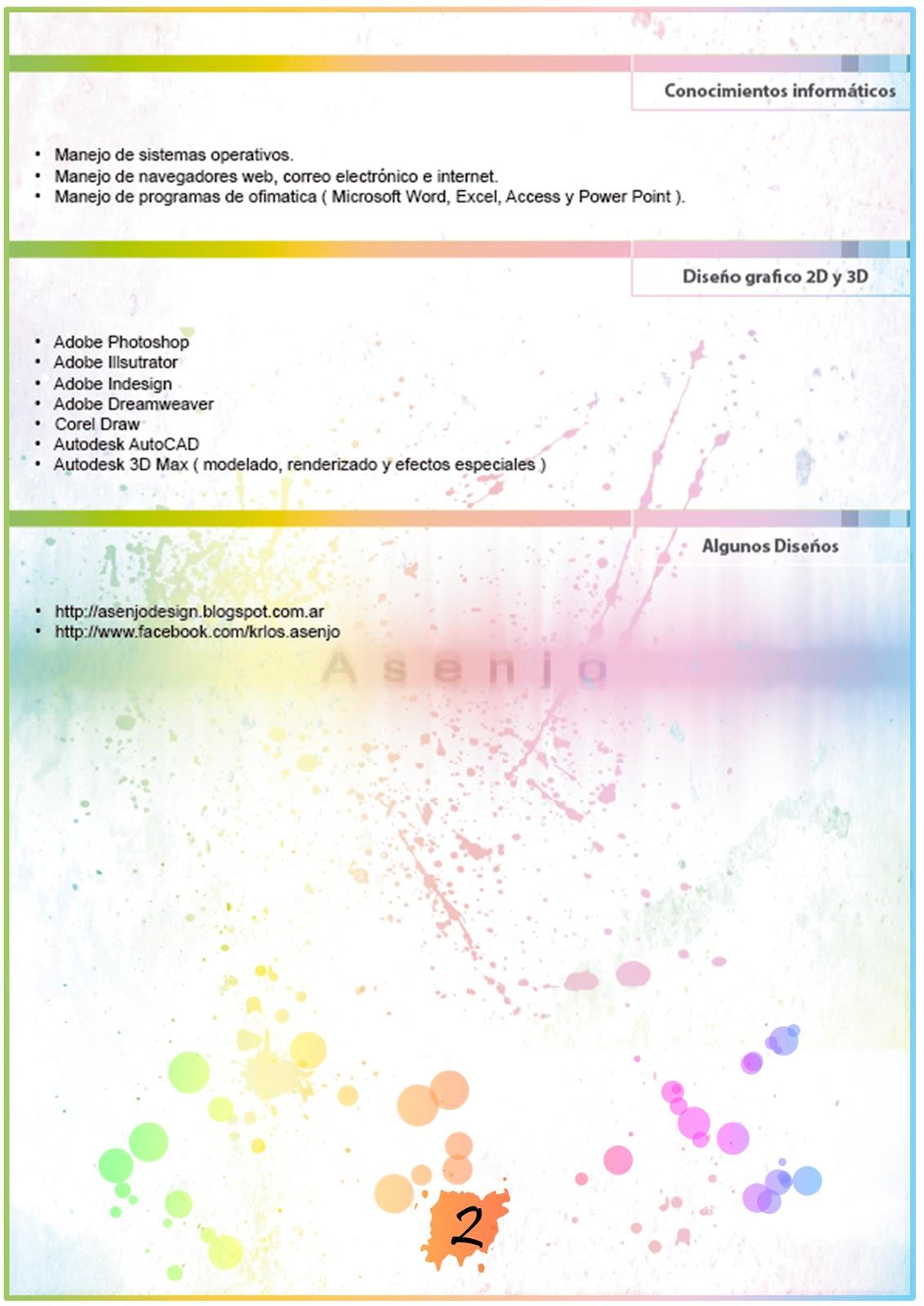 Asenjo Design: Curriculum Vitae