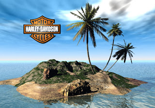 Harley Davidson Free Wallpapers Famous Bikes Logo in 3D Island background