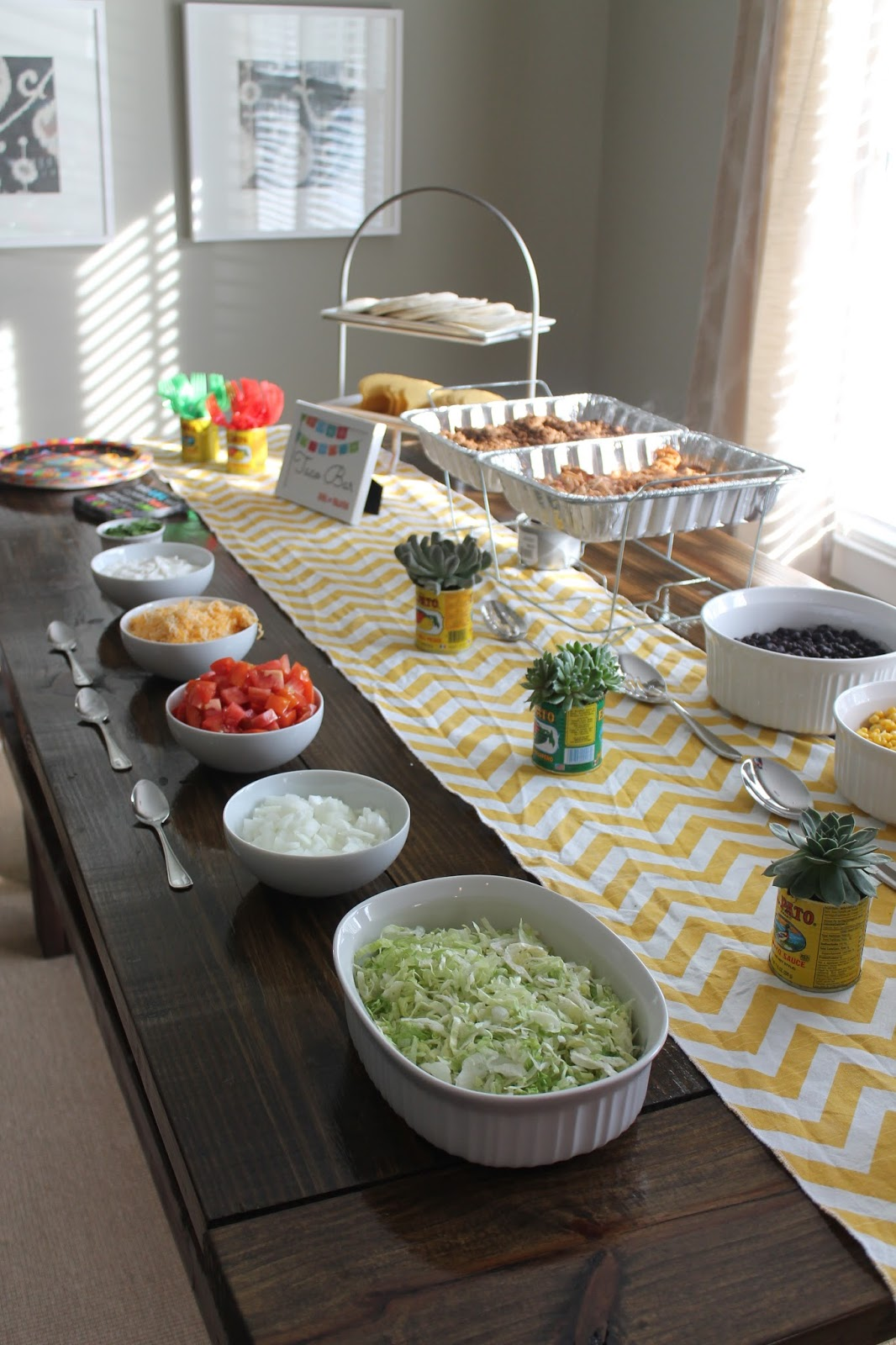 A fiesta engagement carolina charm for Food bar party ideas
