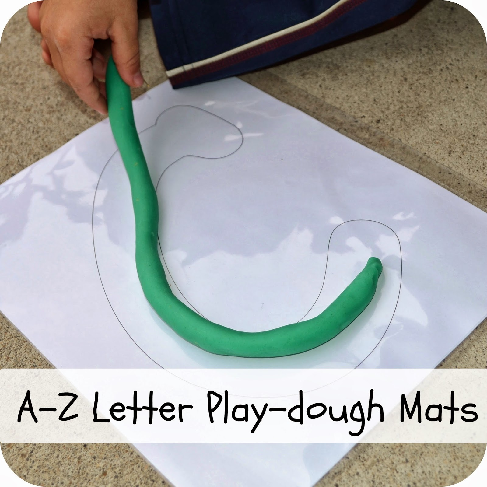 A-Z play-dough mats