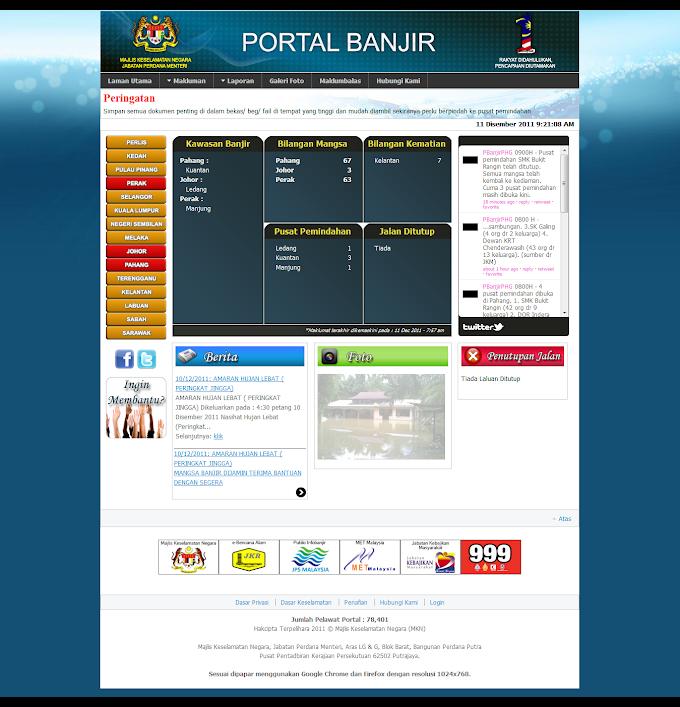 Ikuti perkembangan banjir di Portal Banjir MKN