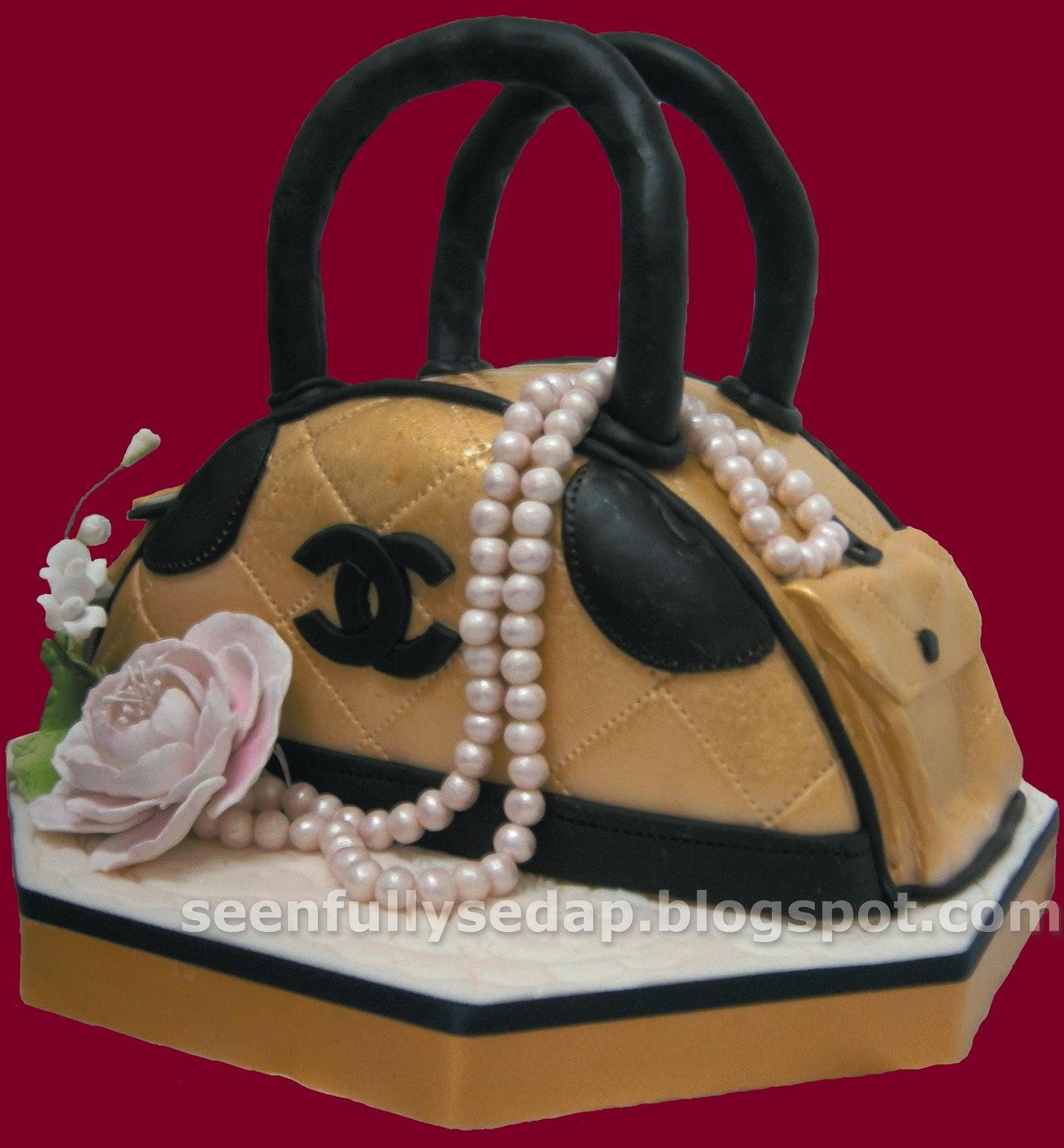 Chanel Cake Designs: Seenfully Sedap: Coco Chanel Handbag Cake