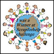 I was a Winner at Scraforhelp challenge