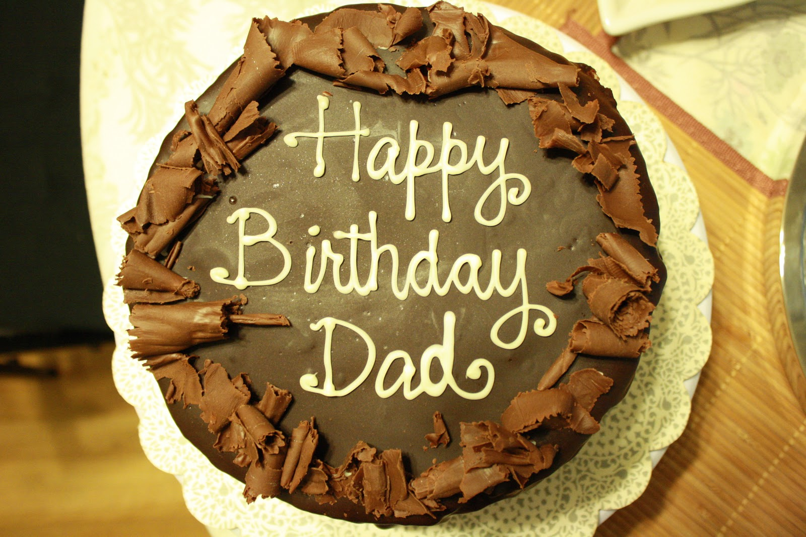 Bday Cake Images For Dad : A Cake Story: Dad s Dark Chocolate Ganache Covered, Fresh ...