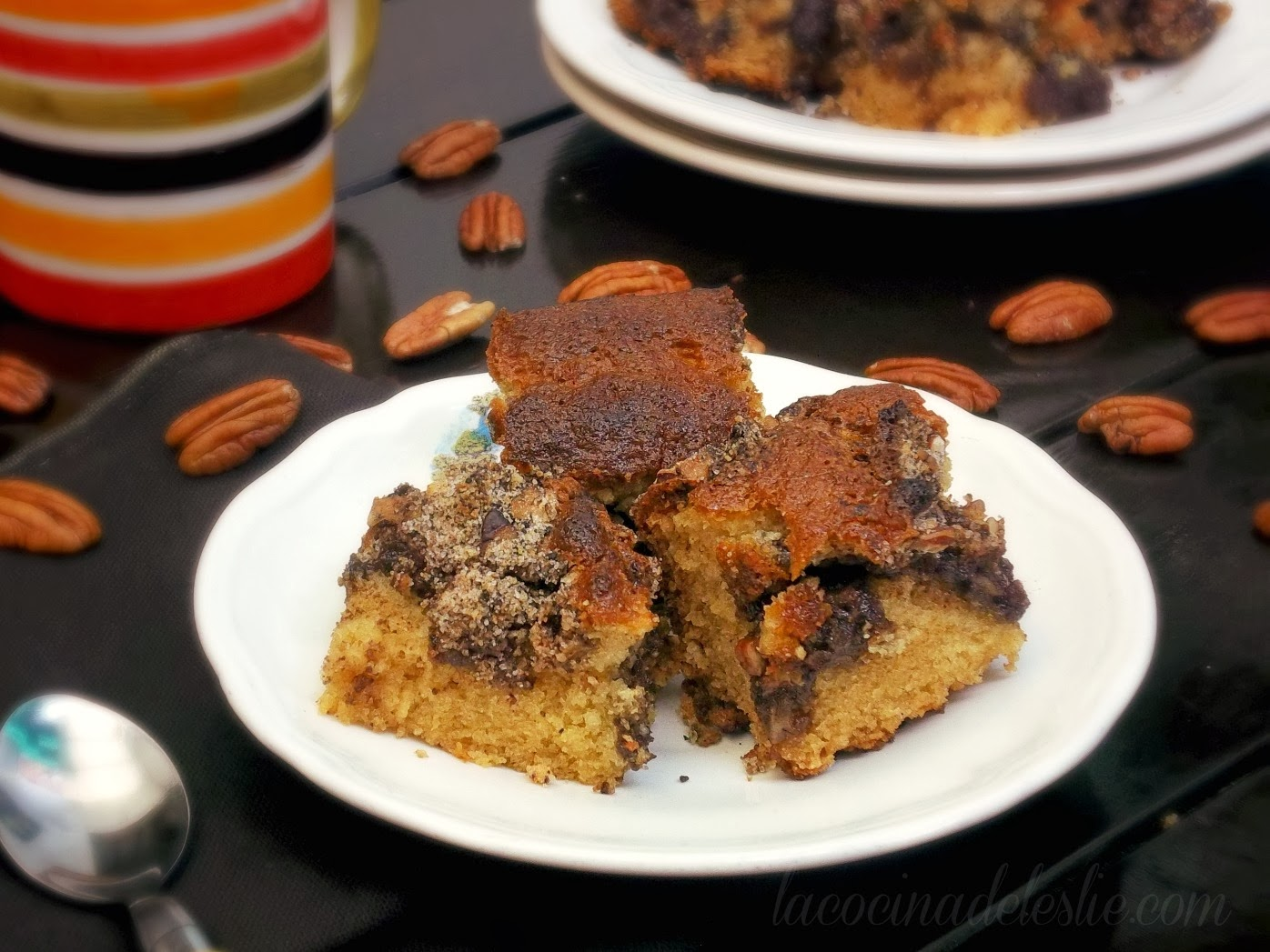Coffee Cake w/ Mexican Chocolate - lacocinadeleslie.com