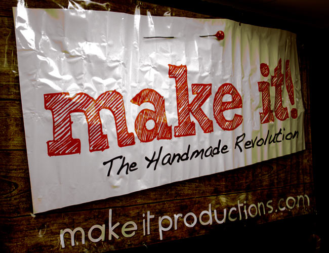 Make it the hand made revolution banner