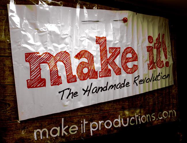 Make it the hand made revolution banner