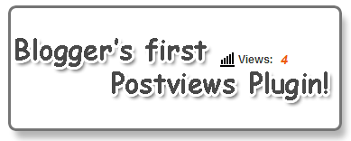 Post view counter