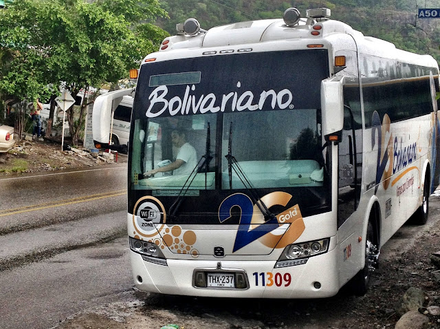 Bolivariano bus in Colombia