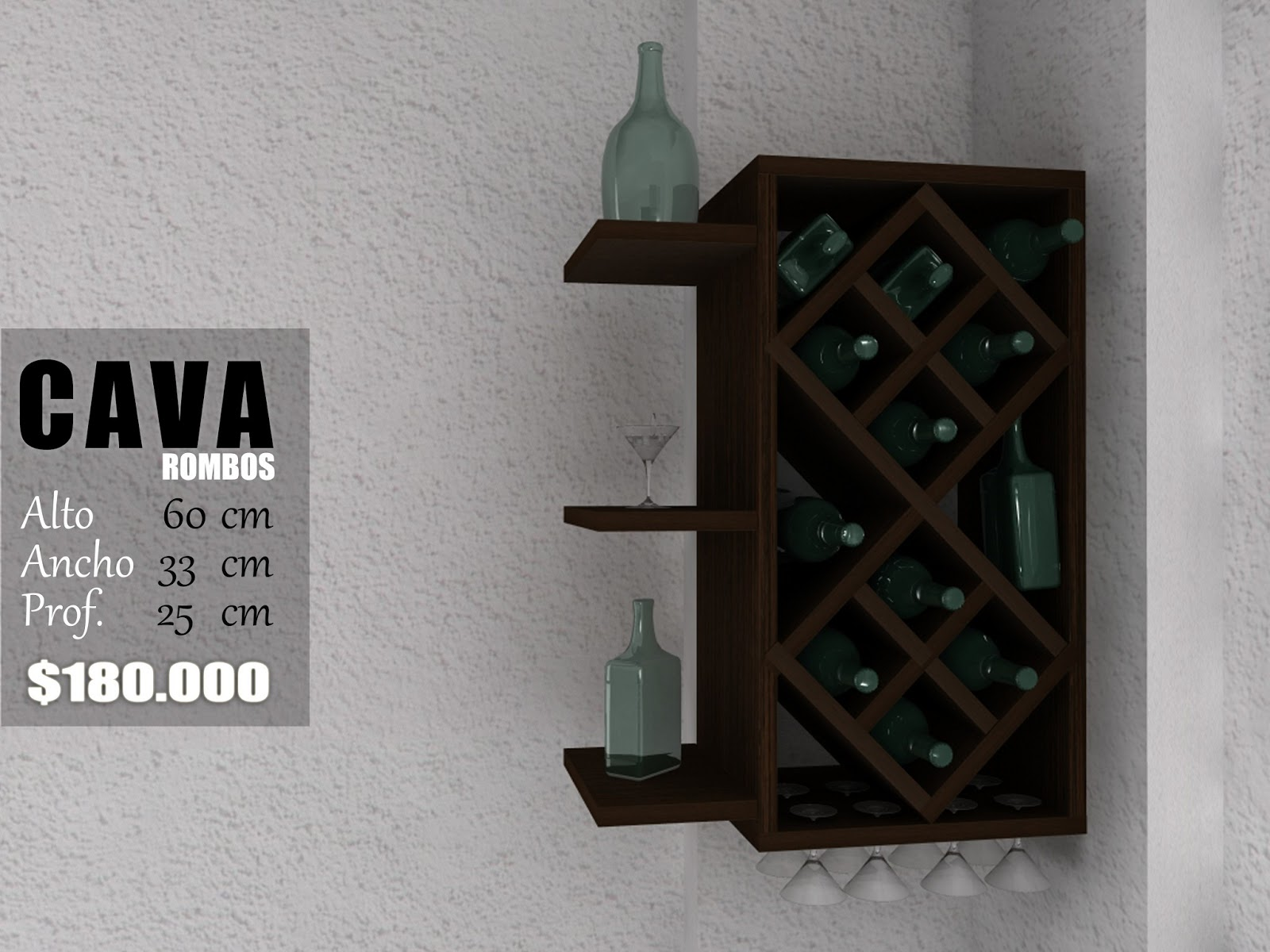 Cava rombos shabry - Cavas de vino para casa ...