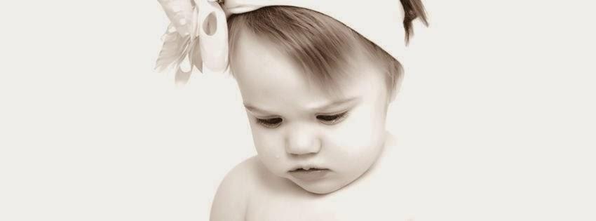 Belle image de couverture pour facebook bébé faché
