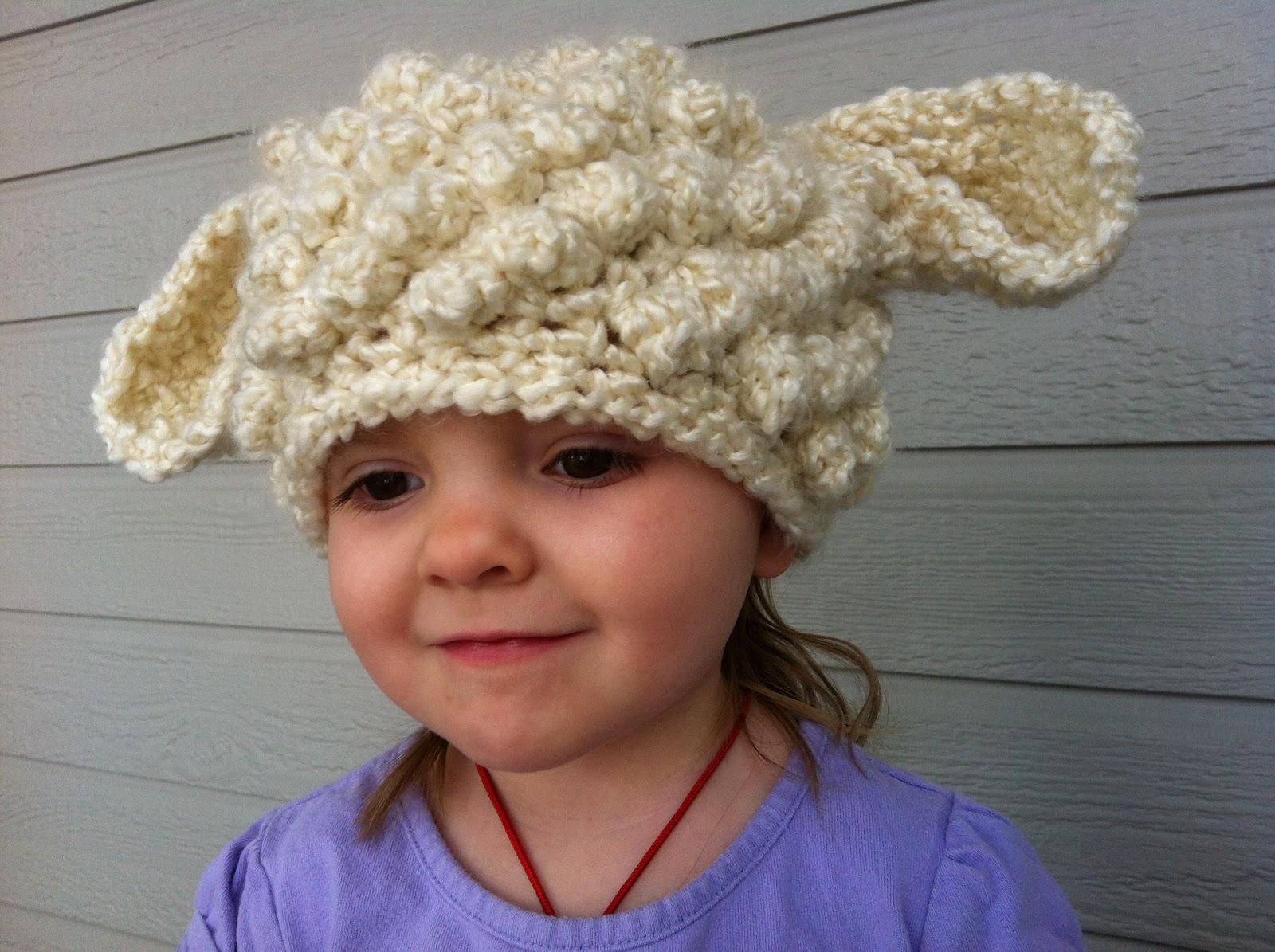 Crochet Pattern For A Lamb Hat : Design Adventures: Crochet Lamb Hat