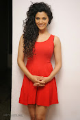 Saiyami Kher Hot in Red at Rey Trailer launch-thumbnail-18