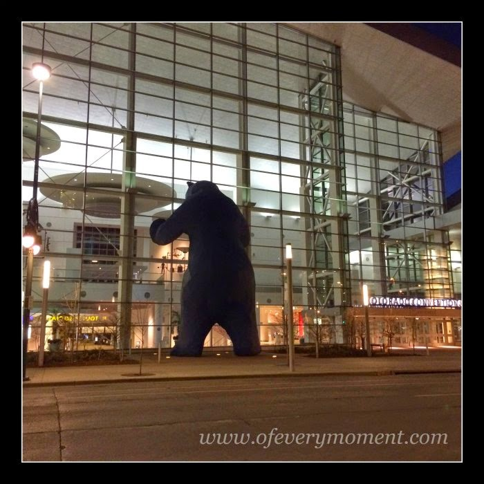 Bear statue, Colorado convention center
