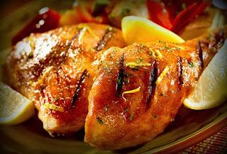 Pollo al limón al horno