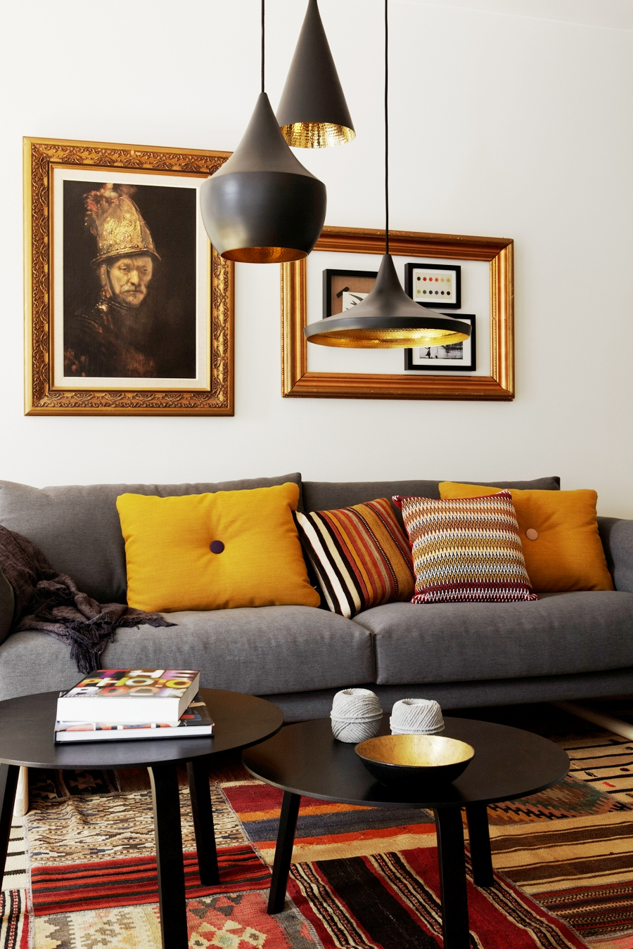Cococozy this or that living room lighting - Black and gold living room decor ...