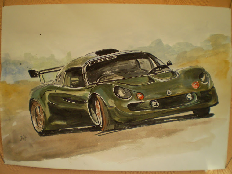 Lotus, watercolour, hand painted, signed Joli, A4