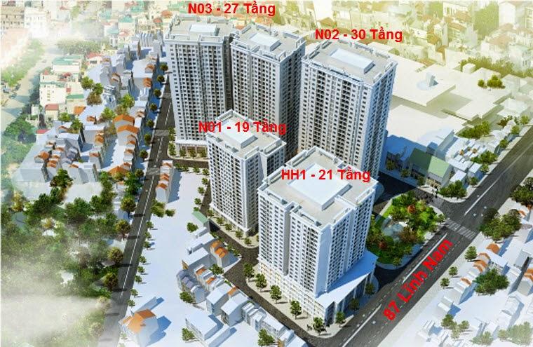 Bán căn hộ dự án chung cư Vinhome Arcadia diện tích 56.6m2