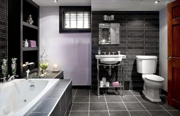 10 ba os grises colores en casa On decoracion de baños en tonos grises