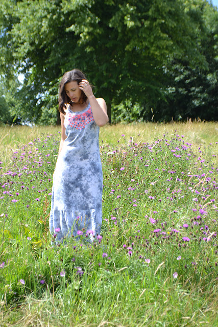 tie dye maxi dress; superdry; Dujouriadore