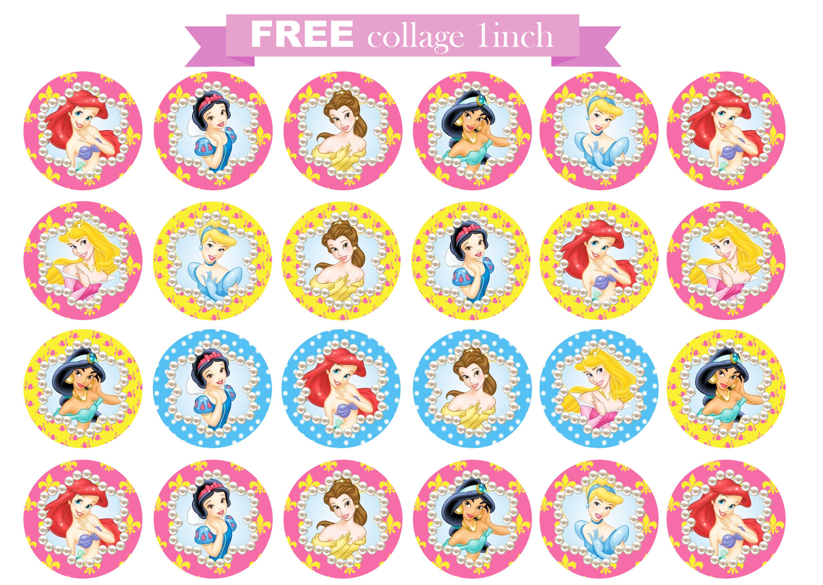 free printable invitation: Disney Princess FREE collage ...