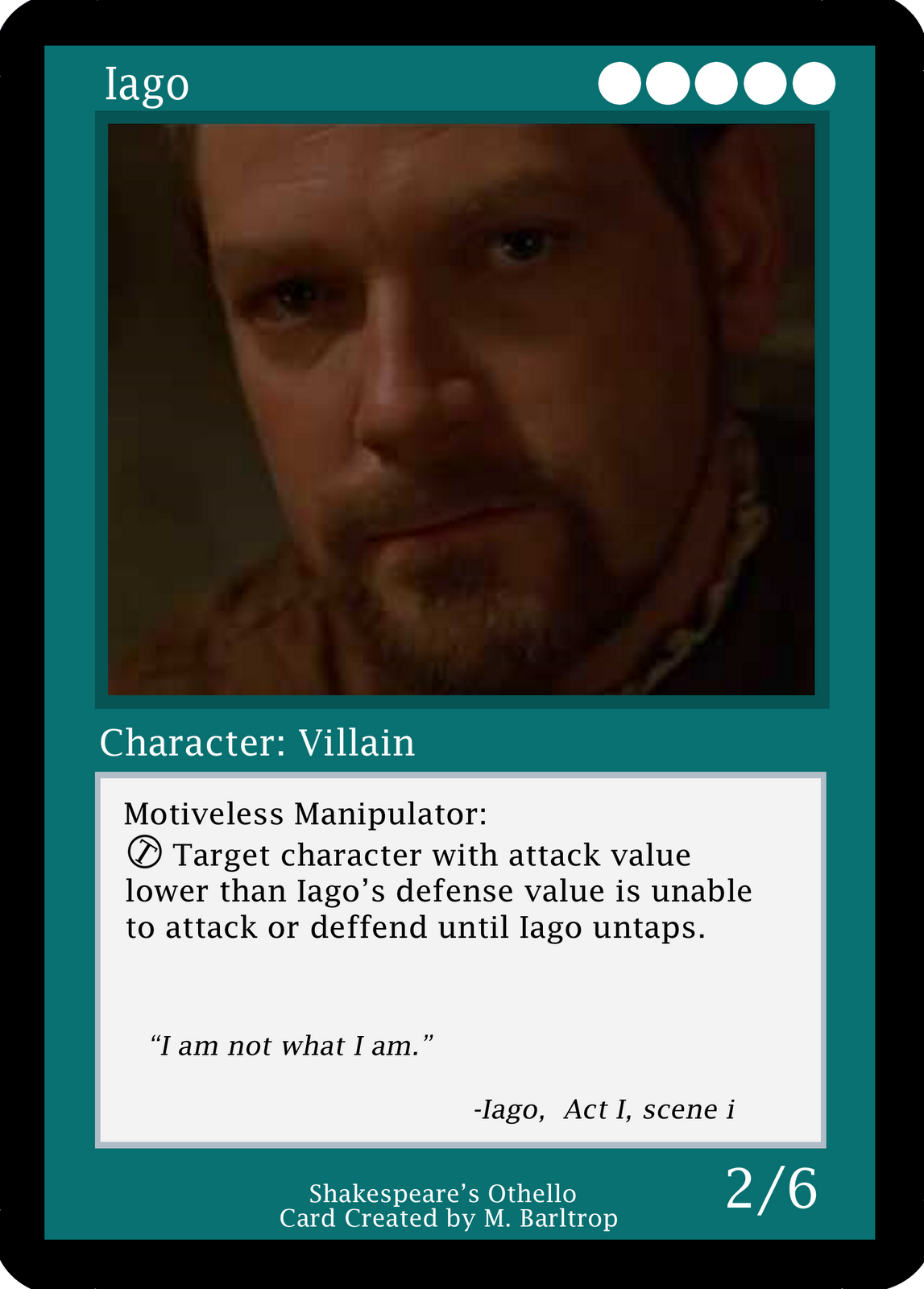 the absolute evil of iago in shakespeares While othello, from shakespeare's play of the same name, is the title character and the obvious protagonist of the play, it may be argued that the main character is in fact the antagonist, iago.