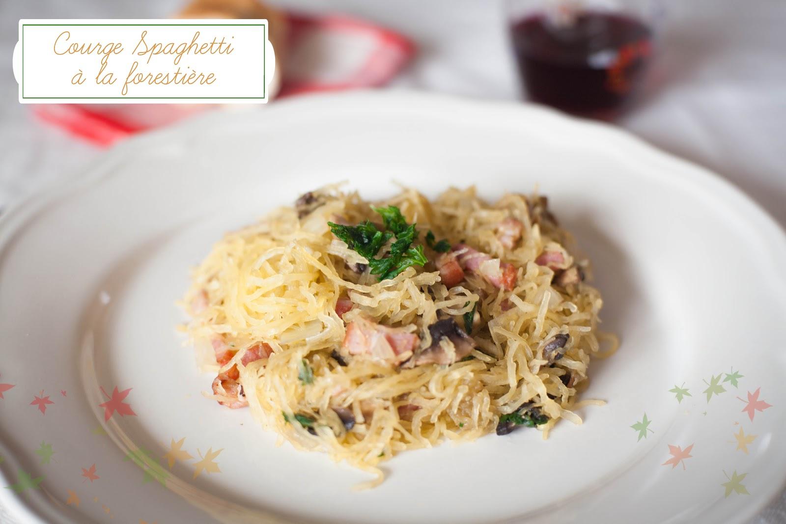 Courge spaghetti la foresti re my little home made cuisine - Cuisiner la courge spaghetti ...