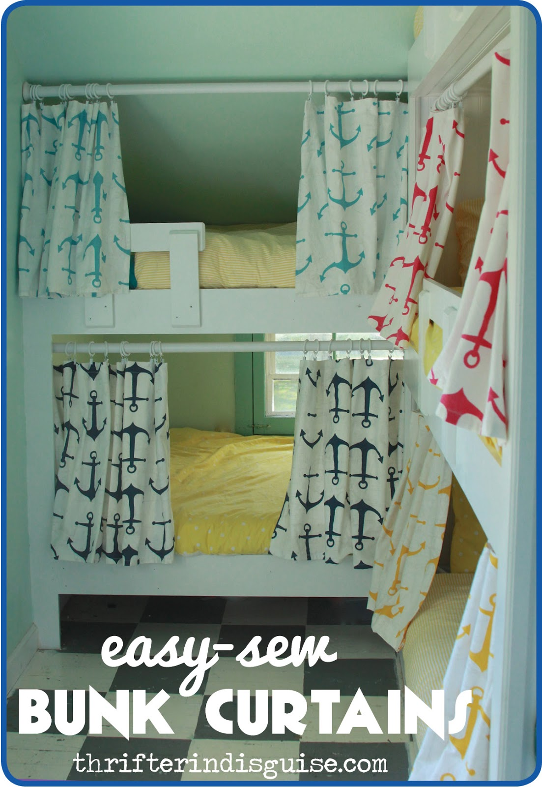 Bunk bed curtains - An Easy Fun Bunk Bed Upgrade